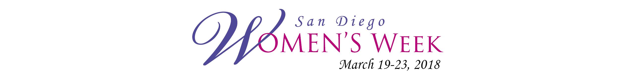 San Diego Women's Week Logo